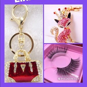 $25 MINK 3D LASHES AND A KEYRING